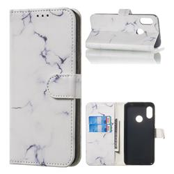 Soft White Marble PU Leather Wallet Case for Xiaomi Mi A2 Lite (Redmi 6 Pro)