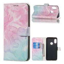 Pink Green Marble PU Leather Wallet Case for Xiaomi Mi A2 Lite (Redmi 6 Pro)