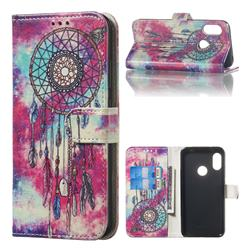 Butterfly Chimes PU Leather Wallet Case for Xiaomi Mi A2 Lite (Redmi 6 Pro)