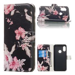 Azalea Flower PU Leather Wallet Case for Xiaomi Mi A2 Lite (Redmi 6 Pro)