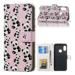 Cute Panda 3D Relief Oil PU Leather Wallet Case for Xiaomi Mi A2 Lite (Redmi 6 Pro)