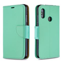 Classic Luxury Litchi Leather Phone Wallet Case for Xiaomi Mi A2 Lite (Redmi 6 Pro) - Green