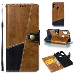 Retro Magnetic Stitching Wallet Flip Cover for Xiaomi Mi A2 Lite (Redmi 6 Pro) - Brown