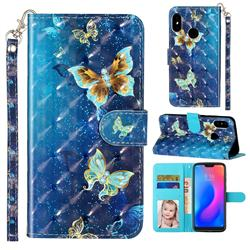 Rankine Butterfly 3D Leather Phone Holster Wallet Case for Xiaomi Mi A2 Lite (Redmi 6 Pro)