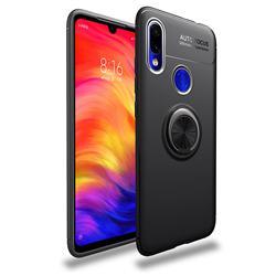 Auto Focus Invisible Ring Holder Soft Phone Case for Mi Xiaomi Redmi 7 - Black