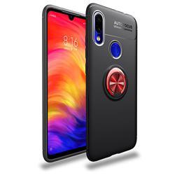 Auto Focus Invisible Ring Holder Soft Phone Case for Mi Xiaomi Redmi 7 - Black Red