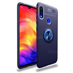Auto Focus Invisible Ring Holder Soft Phone Case for Mi Xiaomi Redmi 7 - Blue