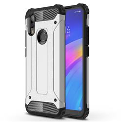 King Kong Armor Premium Shockproof Dual Layer Rugged Hard Cover for Mi Xiaomi Redmi 7 - White