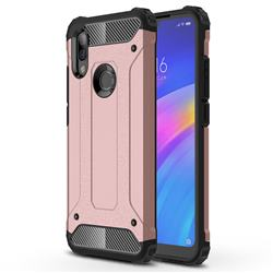 King Kong Armor Premium Shockproof Dual Layer Rugged Hard Cover for Mi Xiaomi Redmi 7 - Rose Gold