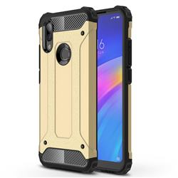 King Kong Armor Premium Shockproof Dual Layer Rugged Hard Cover for Mi Xiaomi Redmi 7 - Champagne Gold