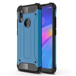 King Kong Armor Premium Shockproof Dual Layer Rugged Hard Cover for Mi Xiaomi Redmi 7 - Sky Blue