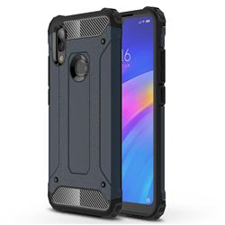 King Kong Armor Premium Shockproof Dual Layer Rugged Hard Cover for Mi Xiaomi Redmi 7 - Navy