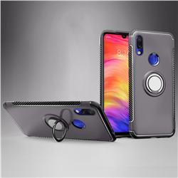 Armor Anti Drop Carbon PC + Silicon Invisible Ring Holder Phone Case for Mi Xiaomi Redmi 7 - Grey