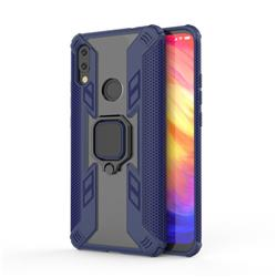 Predator Armor Metal Ring Grip Shockproof Dual Layer Rugged Hard Cover for Mi Xiaomi Redmi 7 - Blue