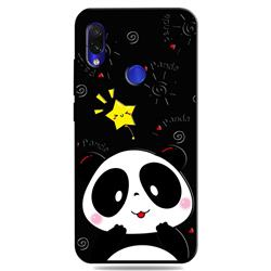 Cute Bear 3D Embossed Relief Black TPU Cell Phone Back Cover for Mi Xiaomi Redmi 7
