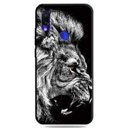 Lion 3D Embossed Relief Black TPU Cell Phone Back Cover for Mi Xiaomi Redmi 7