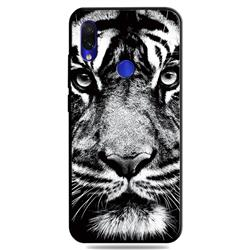 White Tiger 3D Embossed Relief Black TPU Cell Phone Back Cover for Mi Xiaomi Redmi 7