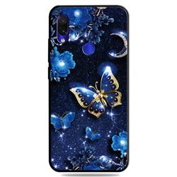Phnom Penh Butterfly 3D Embossed Relief Black TPU Cell Phone Back Cover for Mi Xiaomi Redmi 7