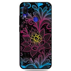 Colorful Lace 3D Embossed Relief Black TPU Cell Phone Back Cover for Mi Xiaomi Redmi 7