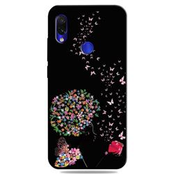 Corolla Girl 3D Embossed Relief Black TPU Cell Phone Back Cover for Mi Xiaomi Redmi 7