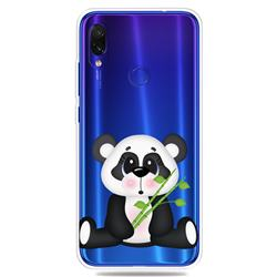 Bamboo Panda Clear Varnish Soft Phone Back Cover for Mi Xiaomi Redmi 7