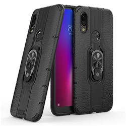 Alita Battle Angel Armor Metal Ring Grip Shockproof Dual Layer Rugged Hard Cover for Mi Xiaomi Redmi 7 - Black