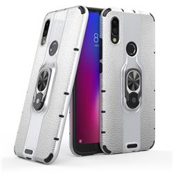 Alita Battle Angel Armor Metal Ring Grip Shockproof Dual Layer Rugged Hard Cover for Mi Xiaomi Redmi 7 - Silver