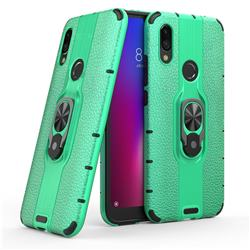 Alita Battle Angel Armor Metal Ring Grip Shockproof Dual Layer Rugged Hard Cover for Mi Xiaomi Redmi 7 - Green