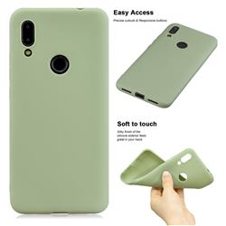 Soft Matte Silicone Phone Cover for Mi Xiaomi Redmi 7 - Bean Green