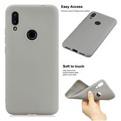 Soft Matte Silicone Phone Cover for Mi Xiaomi Redmi 7 - Gray