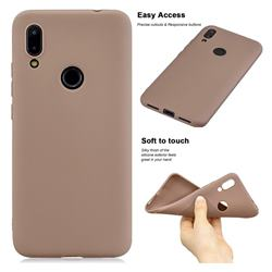 Soft Matte Silicone Phone Cover for Mi Xiaomi Redmi 7 - Khaki