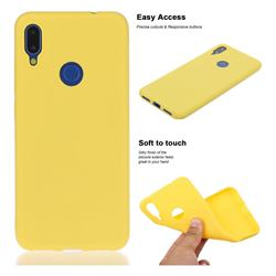 Soft Matte Silicone Phone Cover for Mi Xiaomi Redmi 7 - Yellow