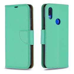 Classic Luxury Litchi Leather Phone Wallet Case for Mi Xiaomi Redmi 7 - Green