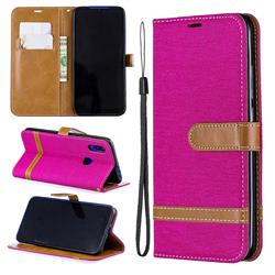 Jeans Cowboy Denim Leather Wallet Case for Mi Xiaomi Redmi 7 - Rose