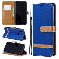 Jeans Cowboy Denim Leather Wallet Case for Mi Xiaomi Redmi 7 - Sapphire