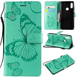 Embossing 3D Butterfly Leather Wallet Case for Mi Xiaomi Redmi 7 - Green