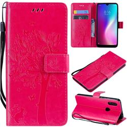 Embossing Butterfly Tree Leather Wallet Case for Mi Xiaomi Redmi 7 - Rose