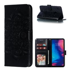 Intricate Embossing Datura Solar Leather Wallet Case for Mi Xiaomi Redmi 7 - Black