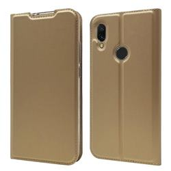 Ultra Slim Card Magnetic Automatic Suction Leather Wallet Case for Mi Xiaomi Redmi 7 - Champagne