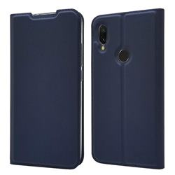 Ultra Slim Card Magnetic Automatic Suction Leather Wallet Case for Mi Xiaomi Redmi 7 - Royal Blue