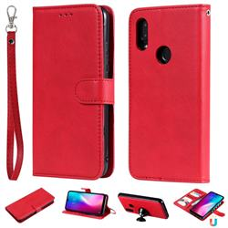 Retro Greek Detachable Magnetic PU Leather Wallet Phone Case for Mi Xiaomi Redmi 7 - Red