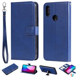 Retro Greek Detachable Magnetic PU Leather Wallet Phone Case for Mi Xiaomi Redmi 7 - Blue