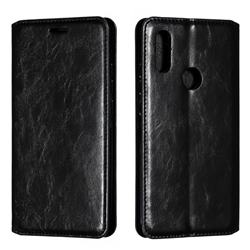 Retro Slim Magnetic Crazy Horse PU Leather Wallet Case for Mi Xiaomi Redmi 7 - Black