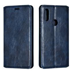 Retro Slim Magnetic Crazy Horse PU Leather Wallet Case for Mi Xiaomi Redmi 7 - Blue