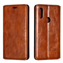 Retro Slim Magnetic Crazy Horse PU Leather Wallet Case for Mi Xiaomi Redmi 7 - Brown