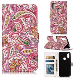 Pepper Flowers 3D Relief Oil PU Leather Wallet Case for Mi Xiaomi Redmi 7