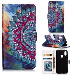 Mandala Flower 3D Relief Oil PU Leather Wallet Case for Mi Xiaomi Redmi 7