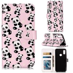 Cute Panda 3D Relief Oil PU Leather Wallet Case for Mi Xiaomi Redmi 7