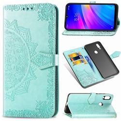 Embossing Imprint Mandala Flower Leather Wallet Case for Mi Xiaomi Redmi 7 - Green