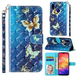Rankine Butterfly 3D Leather Phone Holster Wallet Case for Mi Xiaomi Redmi 7